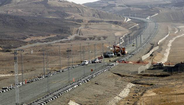 Vista de las obras del proyecto del tren de alta velocidad, que unirá La Meca con la ciudad de Medina.