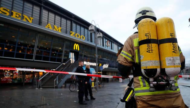 Los bomberos, ante la estación