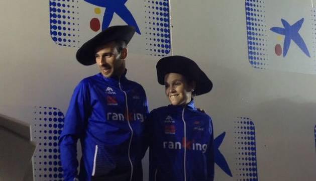 Nagore y Melero, en el podio de la San Silvestre 2017