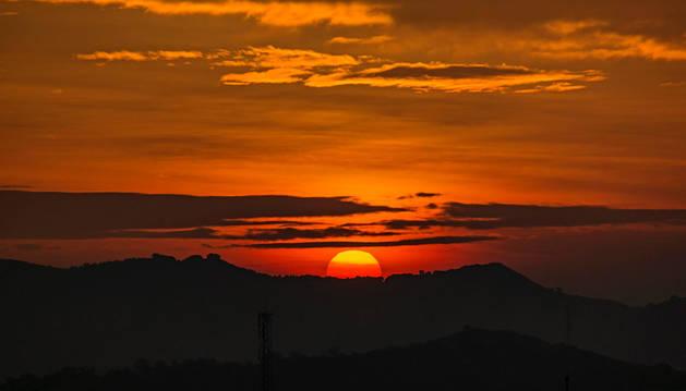 Imagen de una puesta de sol desde Berbinzana. La muerte de Sofyan, que conmocionó a la localidad en 2015, muestra la realidad de que se necesitan protocolos.