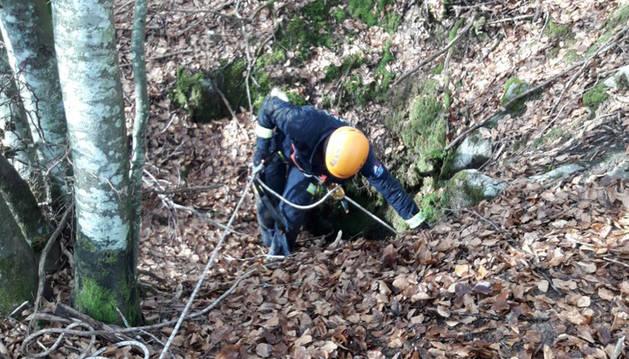 Imagen de la búsqueda del joven desaparecido en el monte Gorbea.