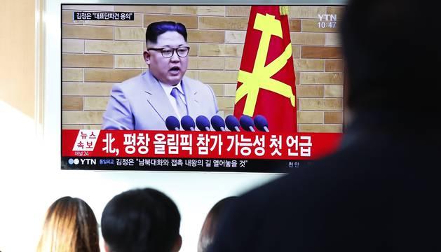 El discurso, durante su emisión en televisión