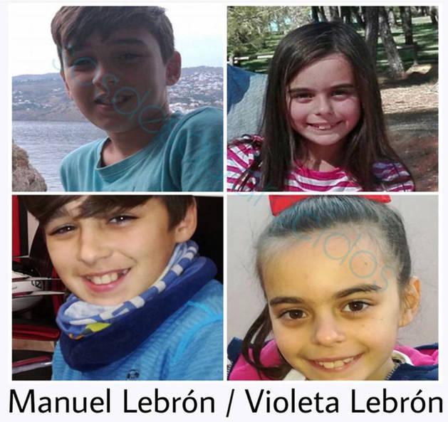 Imagen de Manuel y Violeta Lebrón, los dos niños desaparecidos.