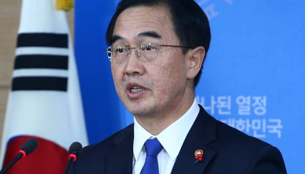 Cho Myoung-gyon, ministro de Unificación surcoreano