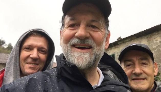 Mariano Rajoy con su entrenador personal