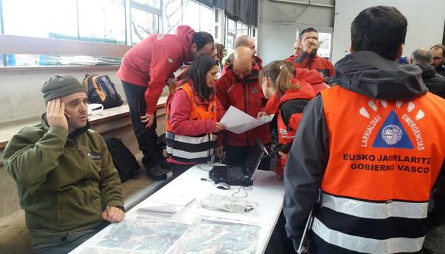 El dispositivo de búsqueda del montañero desaparecido en el Gorbea