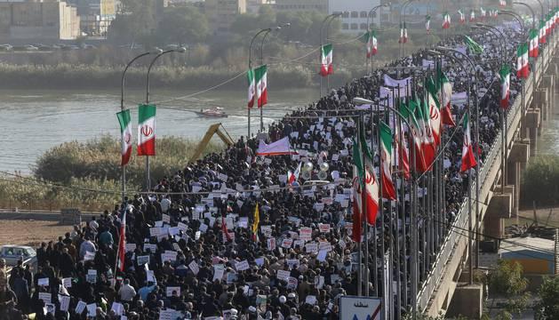 Manifestación a favor del Gobierno