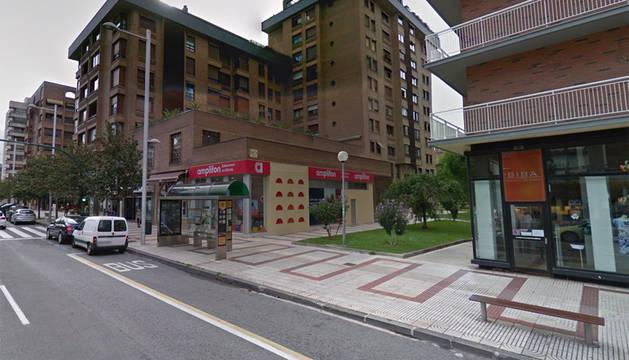 Imagen de la avenida de Bayona de Pamplona.