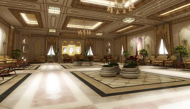 El interior del palacio real frente al que protestaban