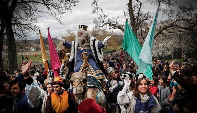 Imagen de la cabalgata de Reyes de Pamplona, seleccionada por el New York Times.