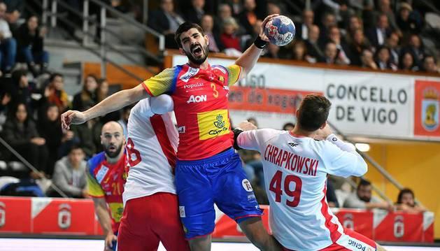 Eduardo Gurbindo, en el encuentro frente a Polonia del Torneo Internacional de España.