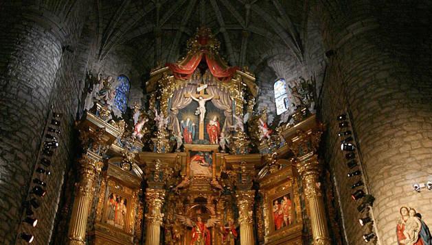 Imagen del retablo de la iglesia de Aoiz, obra de Juan de Anchieta.