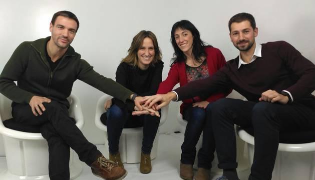 De izda. A dcha., Xabier Asurmend, Isabel Monclús, Maite Rodríguez y Patxi Rodríguez.