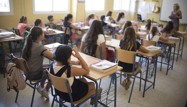 Una clase de Primaria en un colegio español.