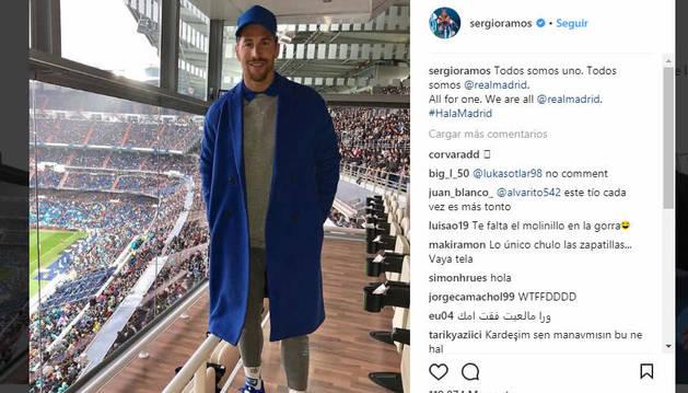 Sergio Ramos, este sábado en el Bernabéu.
