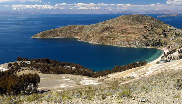 Isla del Sol, en el lago Titicaca, donde hallaron el cuerpo.