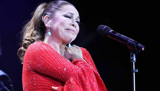 Isabel Pantoja, durante su concierto en Las Palmas de Gran Canaria