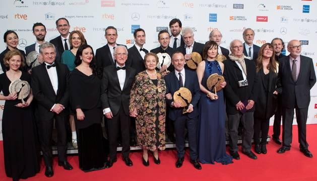 Los premiados en la gala