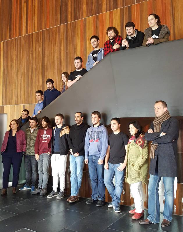 Participantes del festival Pamplona Negra.