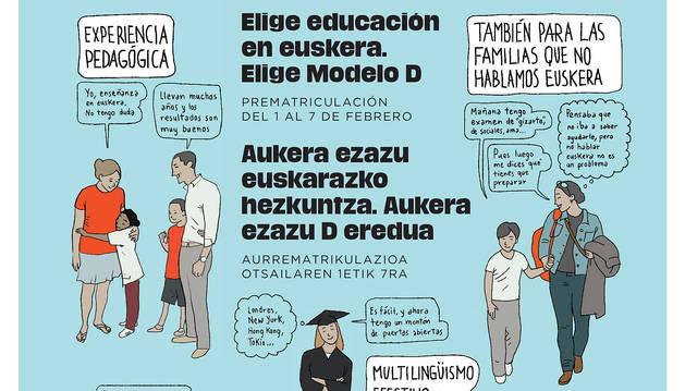 Cartel preparado por Euskarabidea para dar a conocer la campaña.