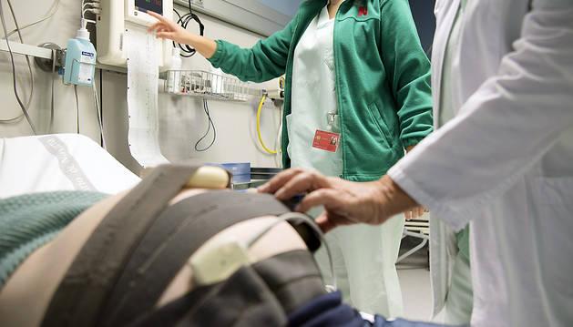 Monitorización de un parto.