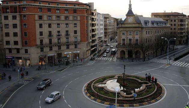 Plaza de Merindades, en Pamplona
