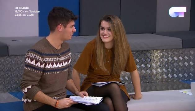 Amaia y Alfred, este miércoles en un ensayo del tema 'Tu canción', su propuesta en dúo para Eurovisión.