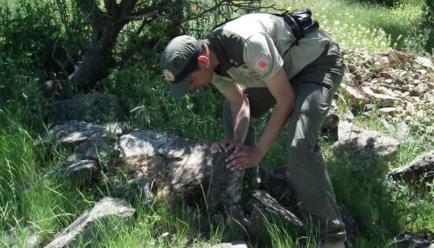 Imagen de un guarda forestal.