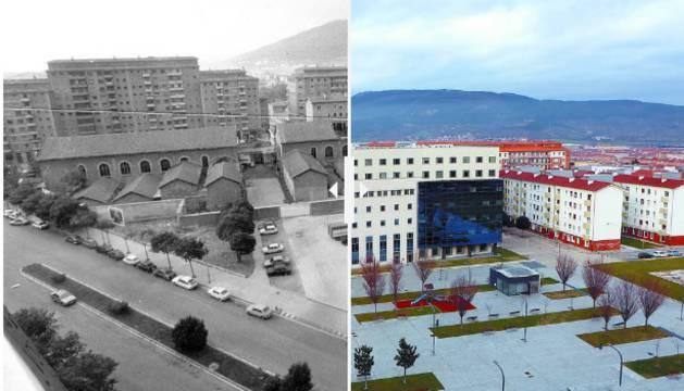 La nueva plaza dedicada al juez Luís Elío, fallecido hace medio siglo, se encuentra delante del Palacio de Justicia y pegada al solar que albergó la cárcel.