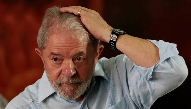 Lula Da Silva en un acto de la campaña electoral del Partido de los Trabajadores