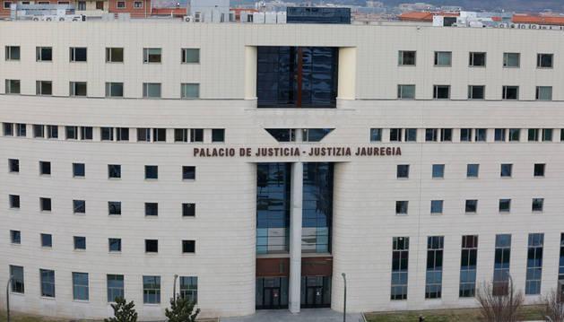Imagen de la sede del Palacio de Justicia de Pamplona.