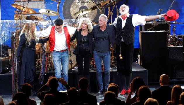 Stevie Nicks, John McVie, Christine McVie, Lindsey Buckingham y Mick Fleetwood.