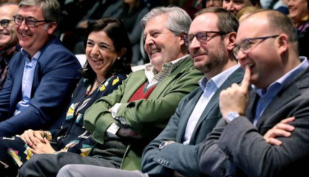 Méndez de Vigo junto a Javier Maroto, en la convención sobre educación que ha celebrado el PP en Galicia