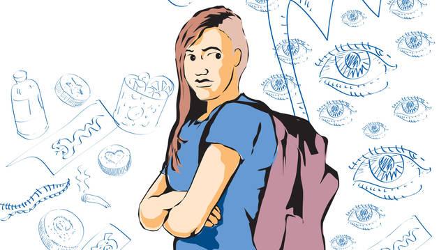 Ilustración de una adolescente