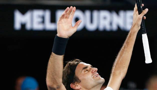 Federer, tras ganar a Cilic.