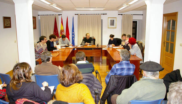 Sesión de la ponencia parlamentaria sobre la situación del Pirineo celebrada ayer en Navascués.