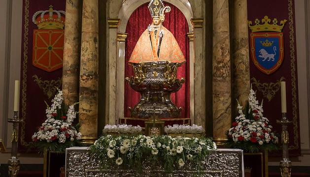 San Fermín en su capilla.