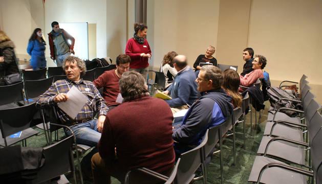 Autoridades locales de la Merindad de Sangüesa valoran el plan en la sesión de este martes.