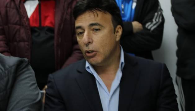 Enrique Pina durante un acto con el Cádiz CF