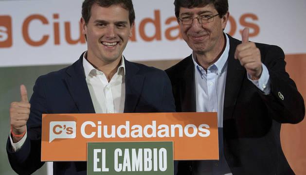 Albert Rivera y Juan Marín, líder de Ciudadanos en Andalucía.