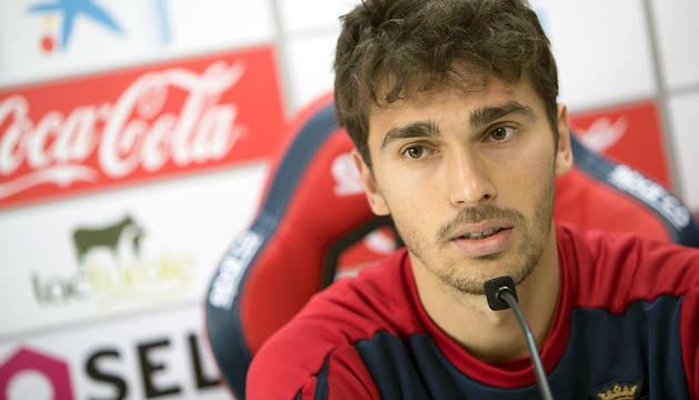 Lucas Torró, durante la rueda de prensa de este sábado.