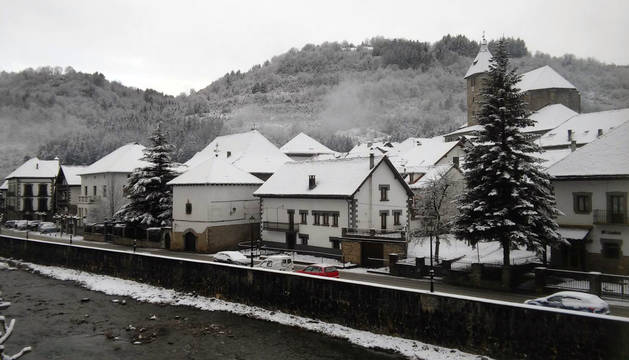 Imágenes de los lectores de la nieve caída en Navarra a principios de febrero de 2018.