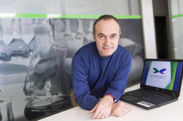 Imagen de José Vidal Obón, catalán residente en Tudela y uno de los emprendedores acogidos en el vivero de empresas de CEIN en la CAT.