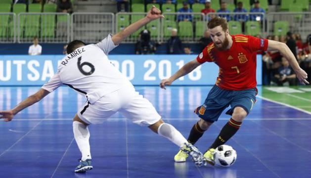 Imagen de un partido anterior de la selección española.