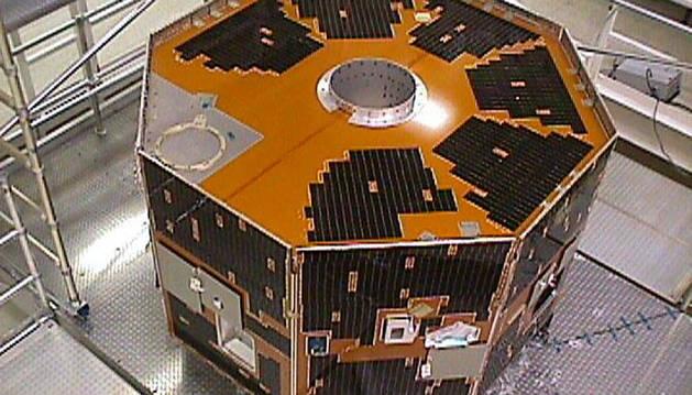 Imagen del satélite IMAGE, antes de salir de la Tierra.