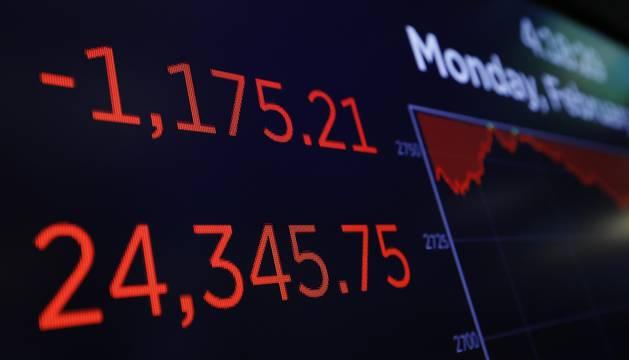Números rojos al cierre de la sesión del Dow Jones