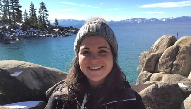 Amaia Iraizoz, en una fotografía tomada en el lago Tahoe, en la frontera entre California y Nevada.
