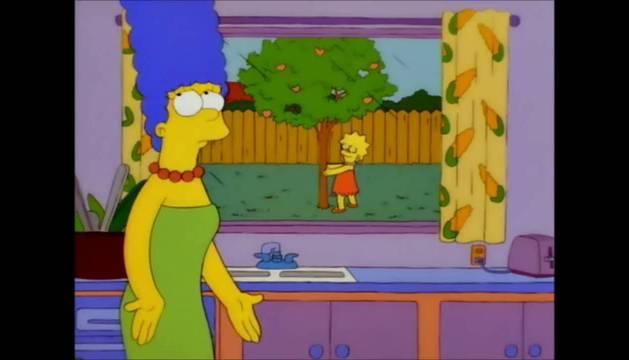 Lisa Simpson y el melocotonero