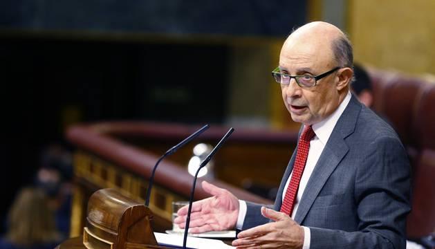 Cristobal Montoro, ministro de Hacienda, en el Congreso de los Diputados