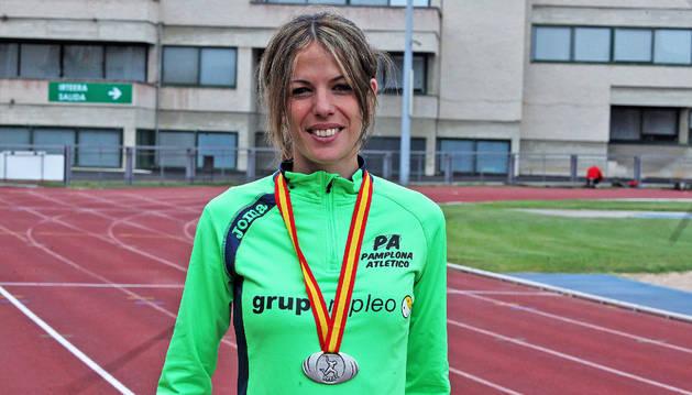 Maitane Melero, en una imagen de archivo, batió el récord navarro y su propio récord de 3000 en Madrid.